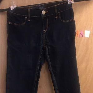 Old Navy Girls Blue Denim Leggings-Size 7